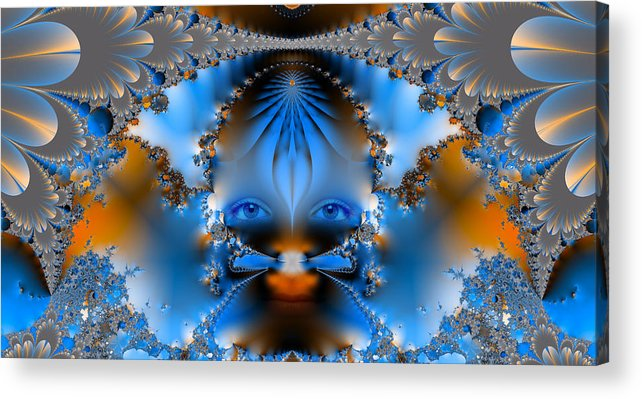 Abstract Acrylic Print featuring the photograph Its All In The Eyes by Ian Mitchell