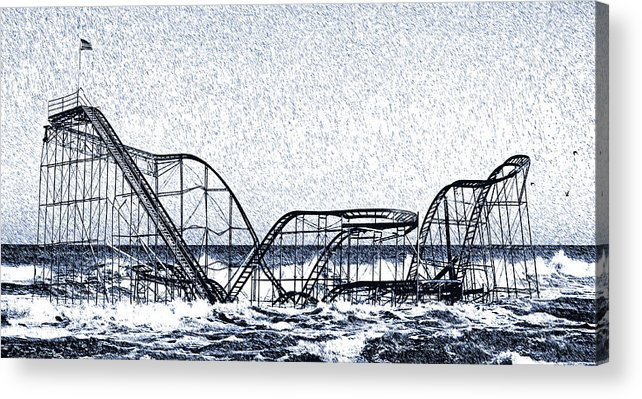 Superstorm Sandy Acrylic Print featuring the photograph Jetstar 2012 by Tina McGinley