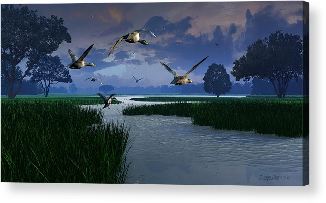 Dieter Carlton Acrylic Print featuring the digital art Out Of The Storm by Dieter Carlton
