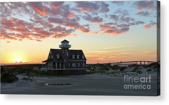Pea Island Acrylic Print featuring the photograph Oregon Inlet Life Saving Station 2693 by Jack Schultz