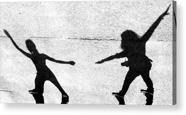 Women Acrylic Print featuring the photograph Shadow Play by Michael Tzacostas