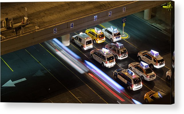 Airport Acrylic Print featuring the photograph Taxis At Mccarran by Kevin Grant