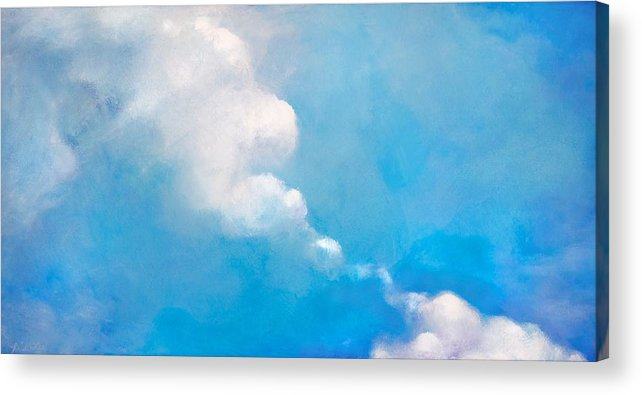 Oil Acrylic Print featuring the painting Touching by Heidi Lee