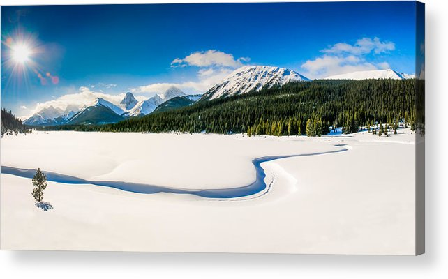 Alpine Acrylic Print featuring the photograph Winters Calm by Brandon Smith