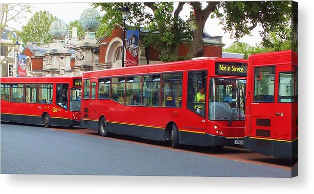 Buses Acrylic Print featuring the photograph A Bevy Of Buses by Anna Villarreal Garbis