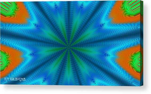 Digital Acrylic Print featuring the digital art Cannibis by Rick Thiemke