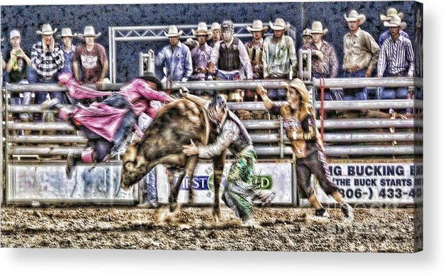 Bullfighter Acrylic Print featuring the photograph Cowboy Protector by Rachelle Rice