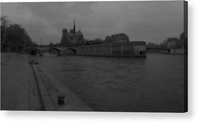 Paris Acrylic Print featuring the photograph La Seine Dh 2 by Wessel Woortman