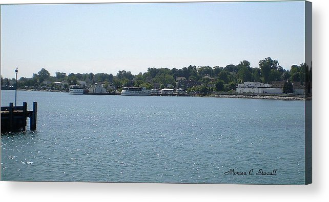 Acrylic Print featuring the photograph Lake Huron Shoreline And Harbor - Michigan by Monica C Stovall
