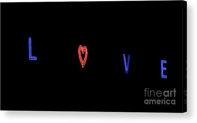 Love Acrylic Print featuring the photograph Love In Neon by Mark Dodd