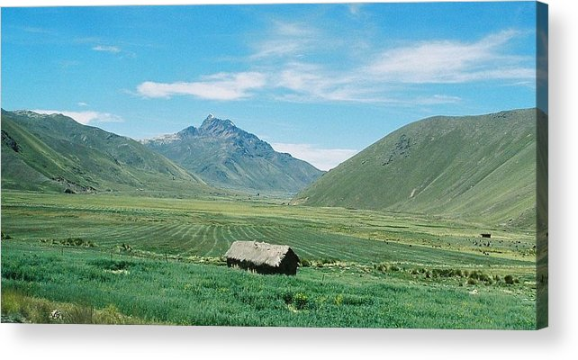 Peru Acrylic Print featuring the photograph On The Road In Peru by Nimmi Solomon