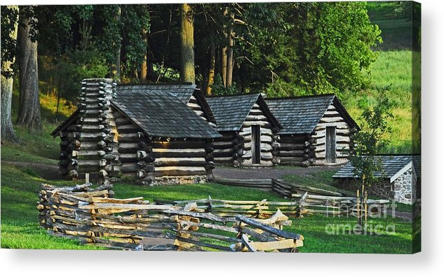 History Acrylic Print featuring the photograph Soldiers Quarters At Valley Forge by Cindy Manero