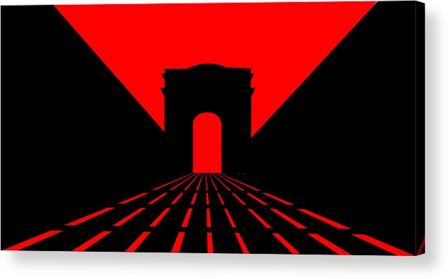 Champs Elys�es Acrylic Print featuring the digital art Inspired By Champs Elysees And Parisian Dusk by Asbjorn Lonvig