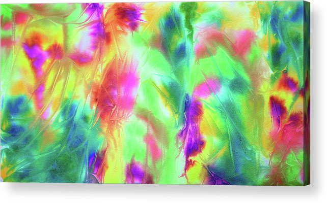 Art Acrylic Print featuring the painting Abstract Watercolor Ferns by Brad Rickerby