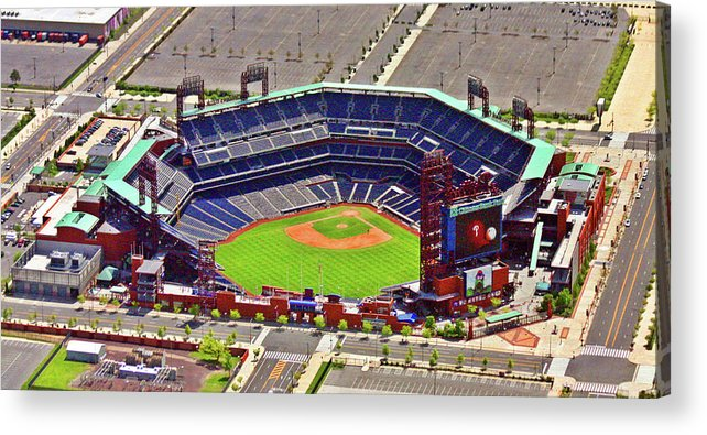 Aerial Photograph Acrylic Print featuring the photograph Citizens Bank Park Phillies by Duncan Pearson