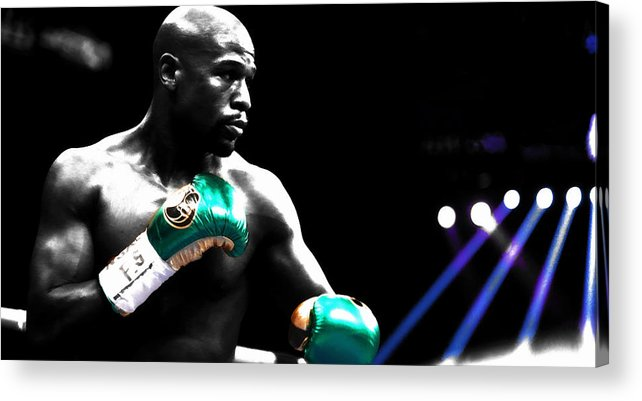 Conor Mcgregor Acrylic Print featuring the mixed media Floyd Mayweather 2b by Brian Reaves