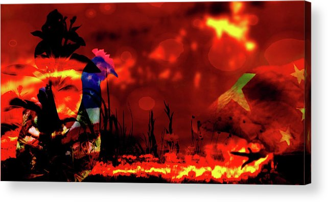 Games Of Chicken-fried Is Not An Option Acrylic Print featuring the mixed media Games Of Chicken-fried Is Not An Option by Mike Breau
