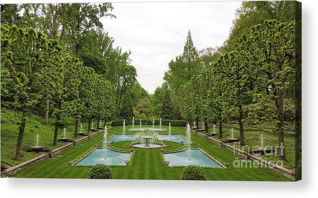 Italian Acrylic Print featuring the photograph Italian Fountains Of The Garden by Jessica T Hamilton