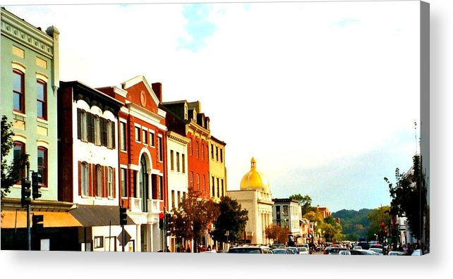 Buildings Acrylic Print featuring the photograph Georgetown by Bob Gardner