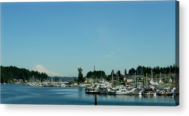 Gig Harbor Bay Acrylic Print featuring the photograph Gig Harbor Bay by Valerie Josi
