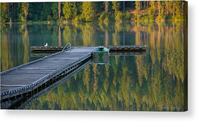 Dock Acrylic Print featuring the photograph Morning Light by Idaho Scenic Images Linda Lantzy