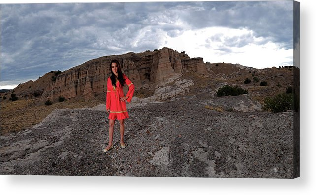 Girl On Mountain Acrylic Print featuring the photograph New Mexico Princess by Dale Davis