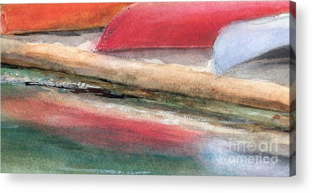 Boats Acrylic Print featuring the painting Reflections by Vivian Mosley