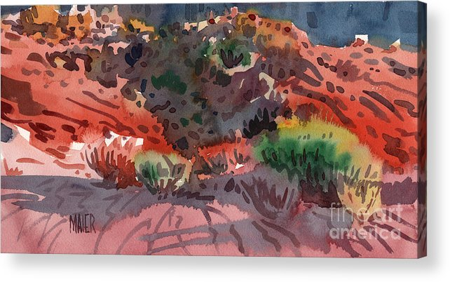 Sagebrush Acrylic Print featuring the painting Sagebrush by Donald Maier
