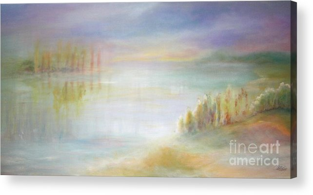 Landscape Acrylic Print featuring the painting Somewhere And Nowhere by Vivian Mosley