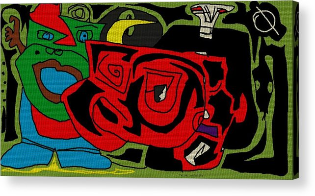 Acrylic Print featuring the drawing Sosaw by Rene Avalos
