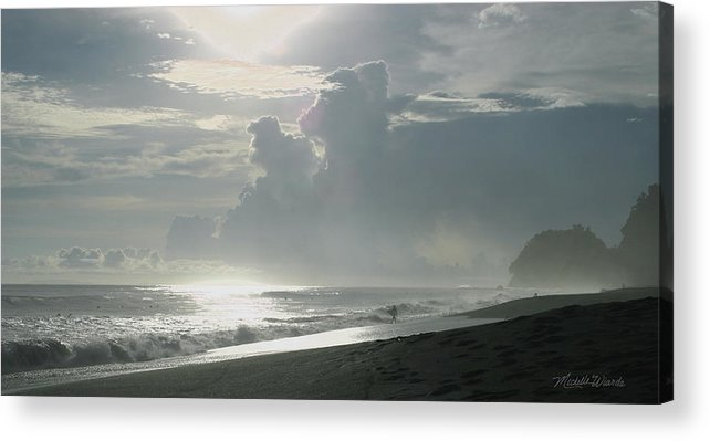 Beach Acrylic Print featuring the photograph Surfer's Paradise Playa Hermosa South Of Jaco Costa Rica by Michelle Constantine