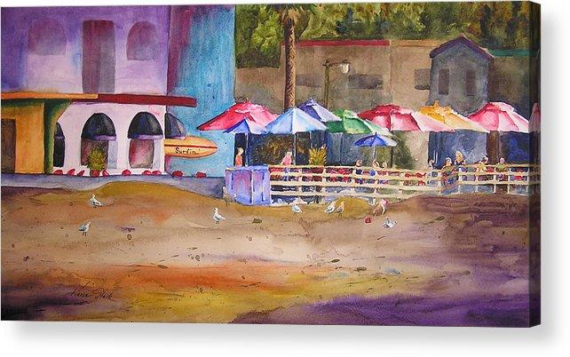 Umbrella Acrylic Print featuring the painting Zelda's Umbrellas by Karen Stark