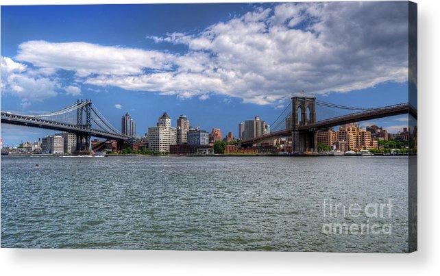 Two Bridges Acrylic Print featuring the photograph Two Bridges by Dima James