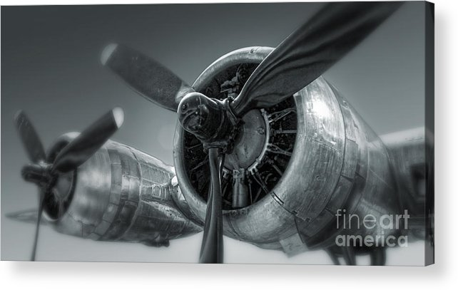 Airplanes Acrylic Print featuring the photograph Airplane Propeller - 02 by Gregory Dyer