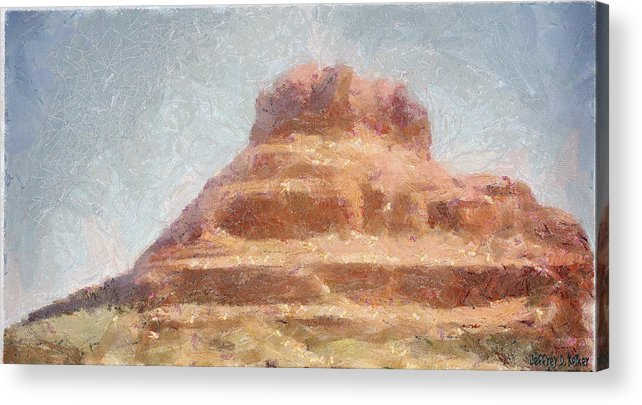 United States Of America Acrylic Print featuring the painting Arizona Mesa by Jeffrey Kolker