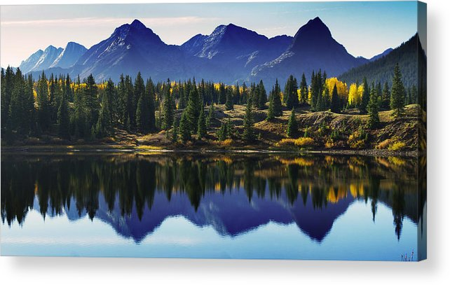 Colorado Photographs Acrylic Print featuring the photograph Purple Mountains Majesty by Gary Benson