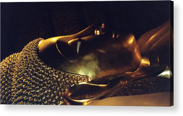 Buddha Acrylic Print featuring the photograph Reclining Buddha by Mary Bedy