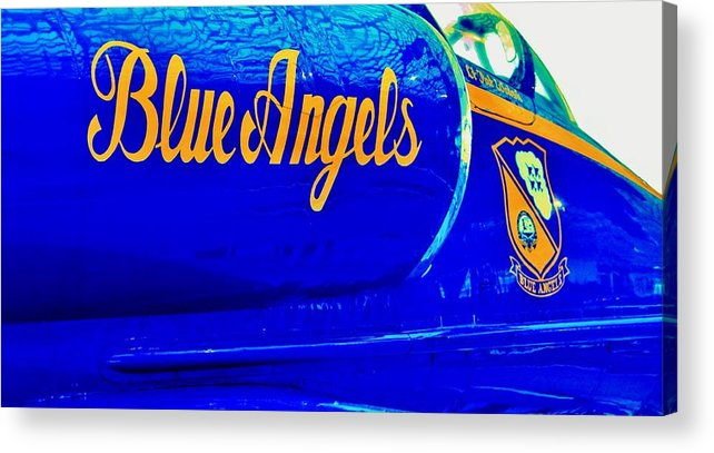 Blue Angels Acrylic Print featuring the photograph Vintage Blue Angel by Benjamin Yeager