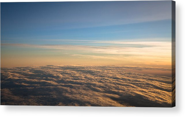 Clouds Acrylic Print featuring the photograph Cloudscape From A 757 by David Patterson