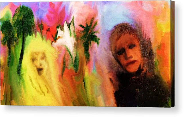 Colors Plants Abstract Plants Women Dream Acrylic Print featuring the painting Colorists by Jorge Quintanicho