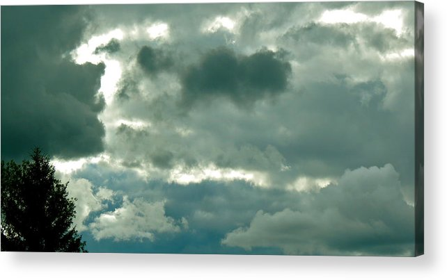 Clouds Acrylic Print featuring the photograph Deception by Azthet Photography