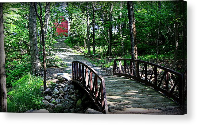 Mississippi Trail Photographs Acrylic Print featuring the photograph Old Grainery At Henry Park by Tam Graff