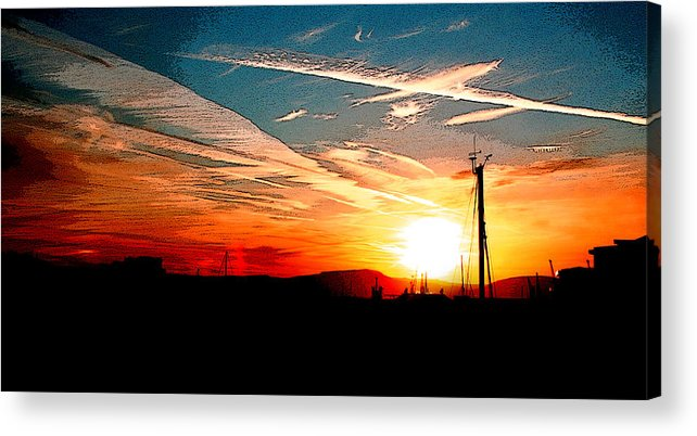 Landscape Acrylic Print featuring the photograph Poster Sunset by Stephanie Andrews