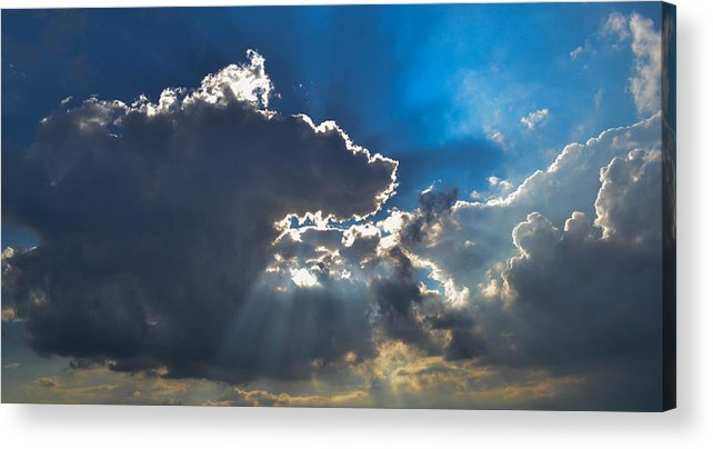 Clouds Acrylic Print featuring the photograph Silver Lining by Wanda J King