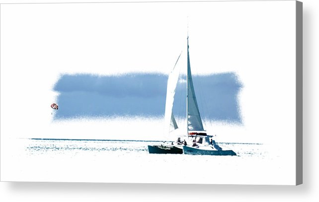 Sail Boat Acrylic Print featuring the photograph Turks 45 by Allan Rothman
