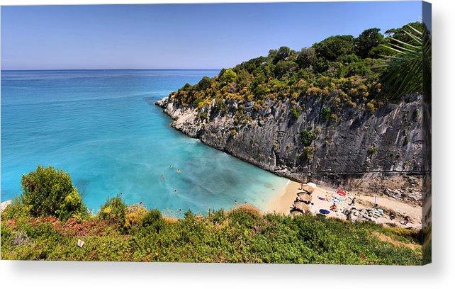 Beach Acrylic Print featuring the photograph Xigia Beach by Itay Gal