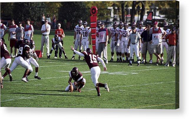 Kicking Acrylic Print featuring the photograph Football by Wes Shinn
