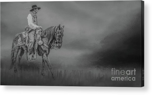 Western Art Acrylic Print featuring the mixed media Joe And Max by Kim Henderson