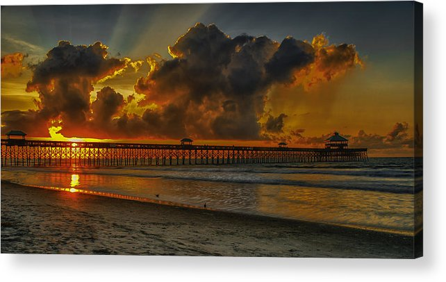 South Carolina Acrylic Print featuring the photograph A New Day Dawns by Reid Northrup