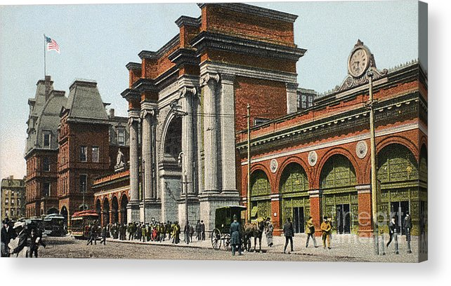1910 Acrylic Print featuring the photograph Boston: North Station by Granger
